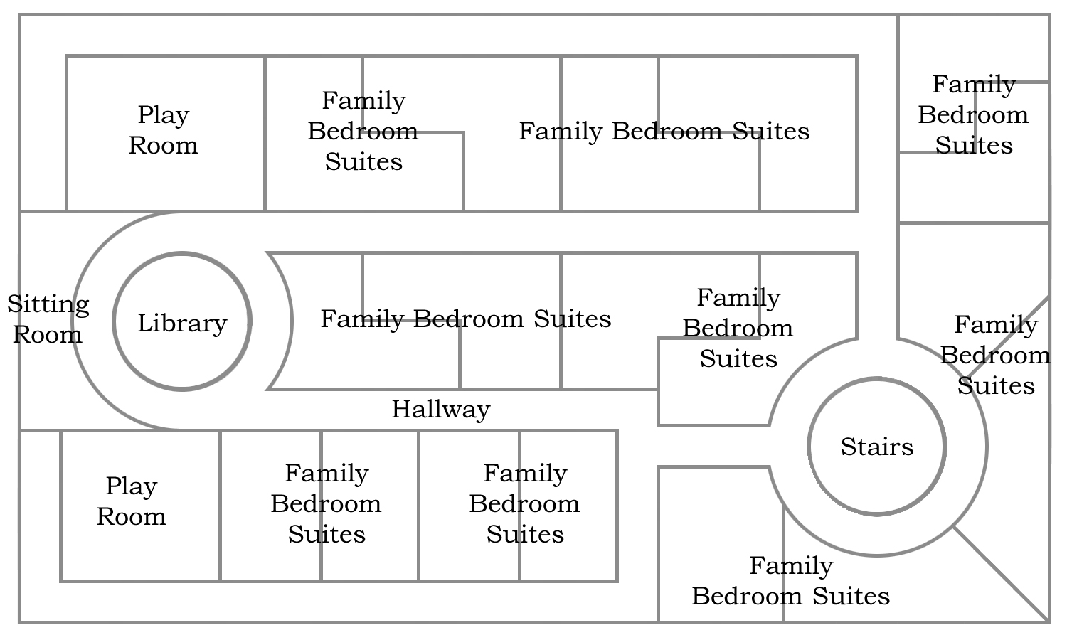 Floor plan for the second lower floor of BFC Stronghold.