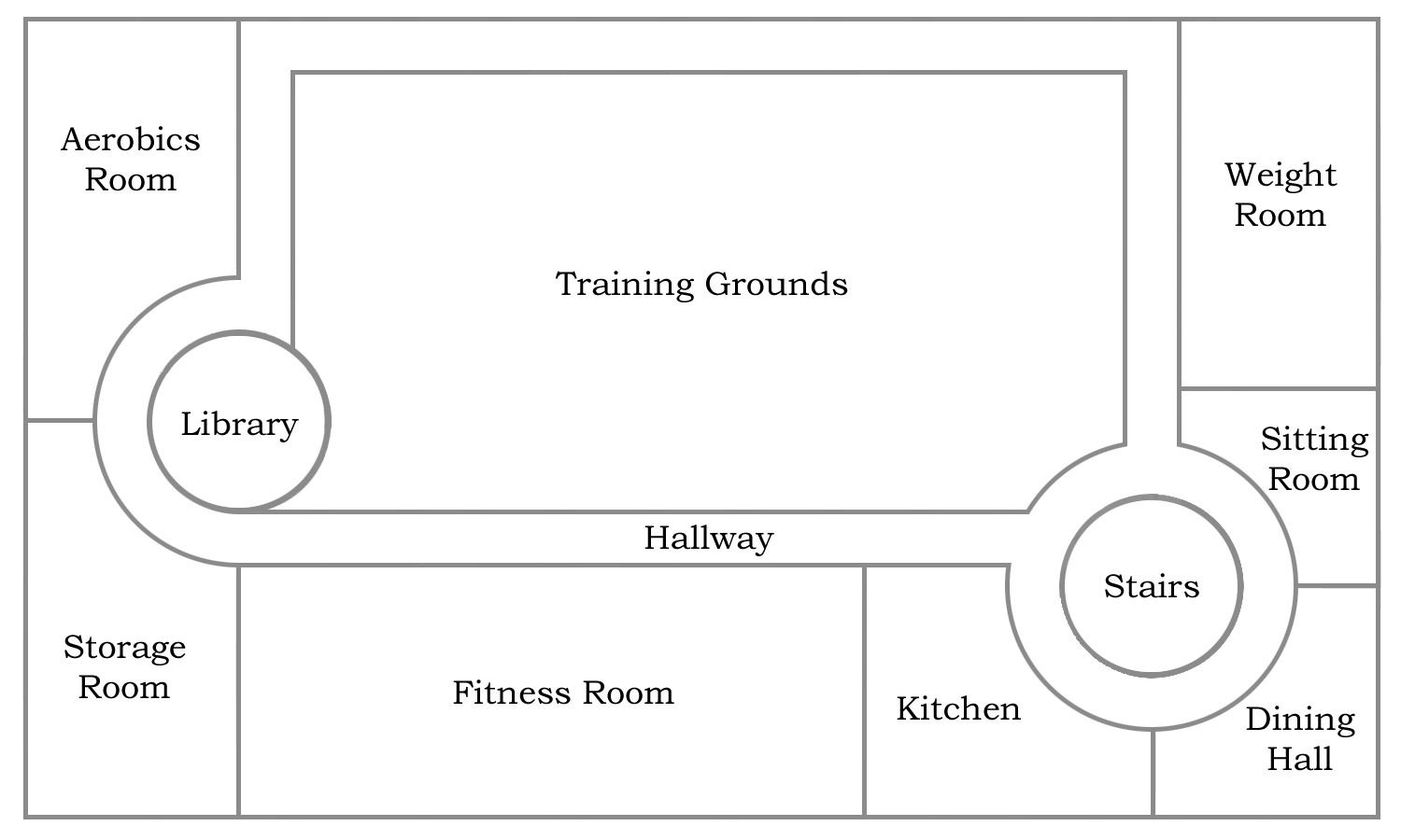 Floor plan for the third lower floor of BFC Stronghold.