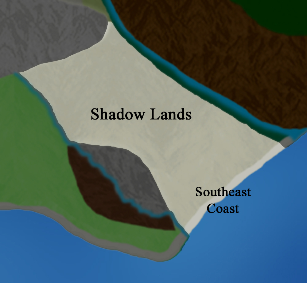 Main Continent:  Shadow Lands