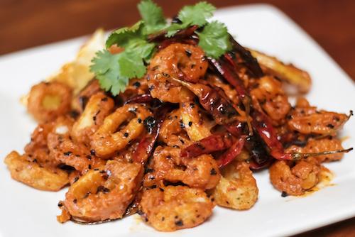 Fried Calamari: Spicy Shown