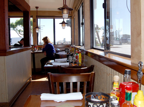 Eat in Seal Beach steps to the pier