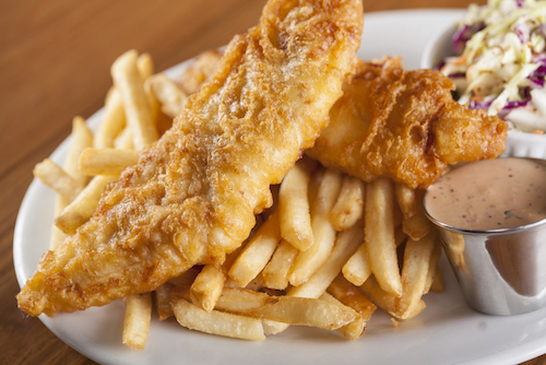 50% Off Fish and Chips on Wed.