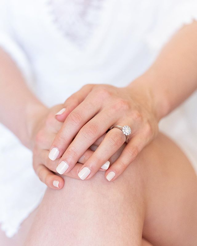 I am such a sucker for a big sparkly engagement ring. This ladylike piece was catching the filtered window light while Katie was getting her makeup done, and it was a perfect moment for showcasing its beauty. #paulininlove