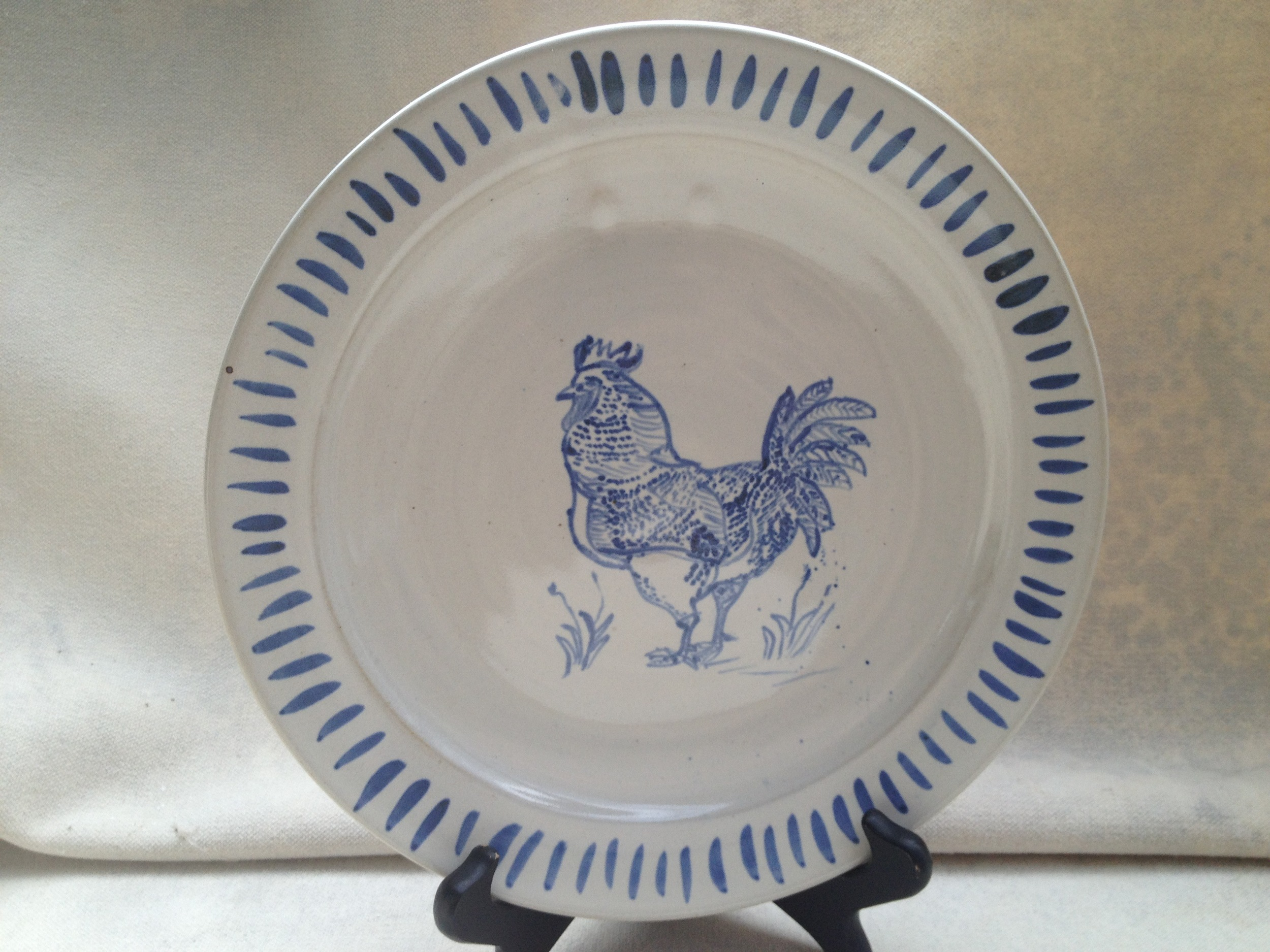 Rooster plate with border