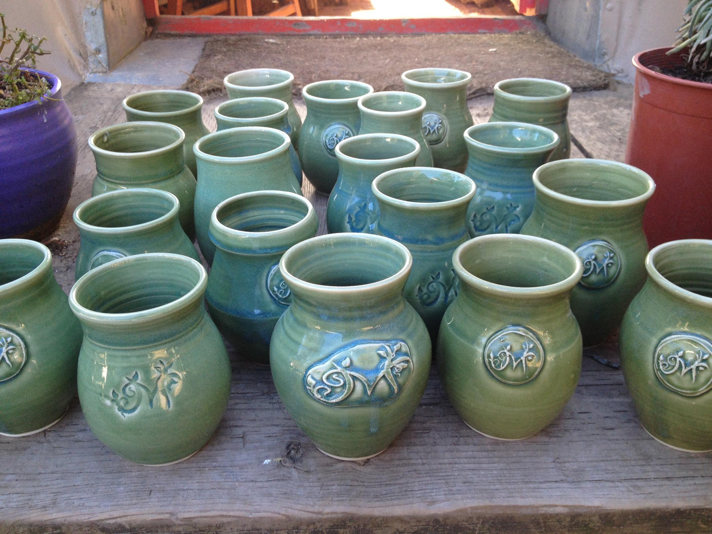 Custom-Made Metrofolia Logo Vases