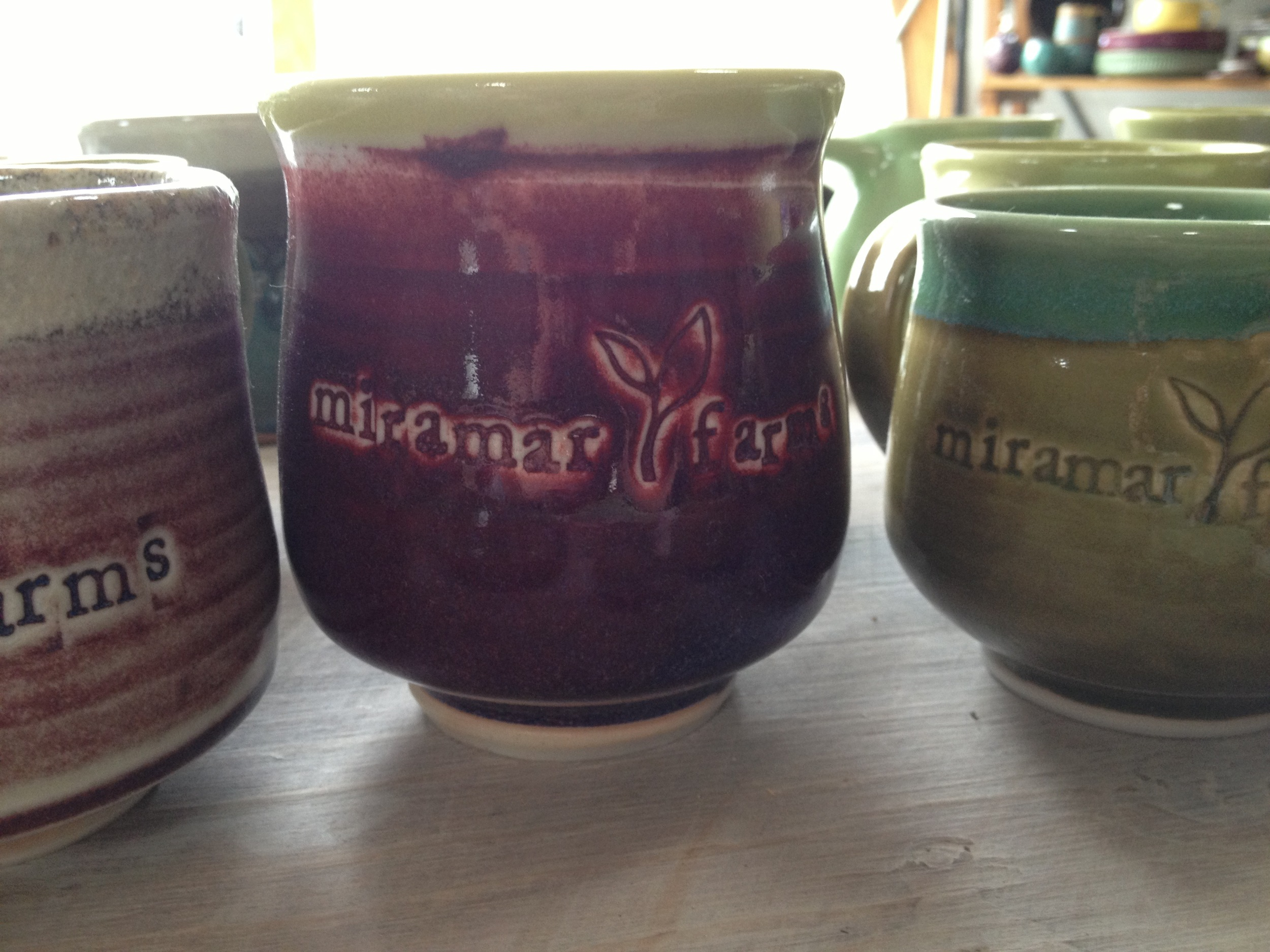 Miramar Farms logo teacups