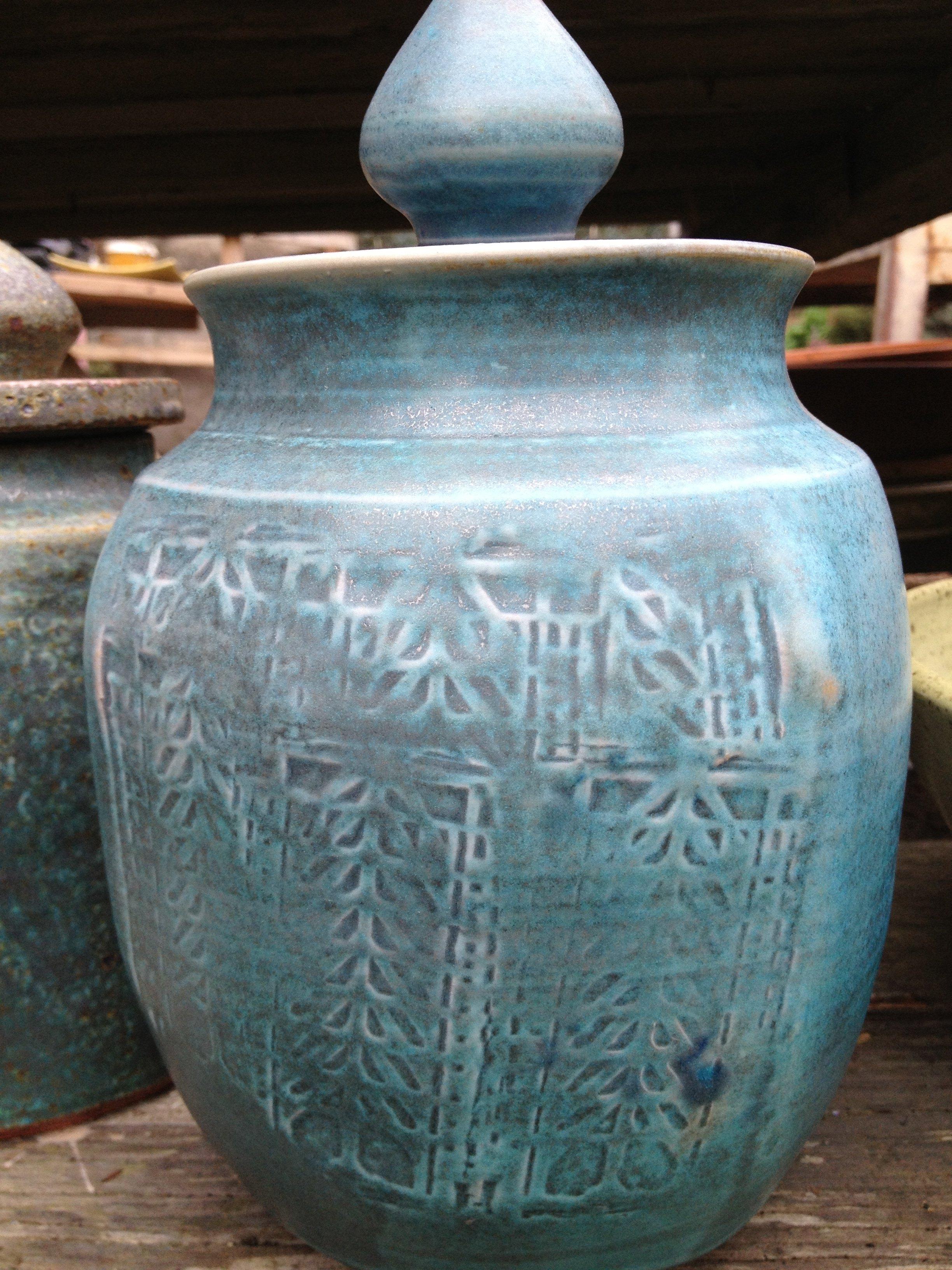 Frank Lloyd Wright-inspired Urn