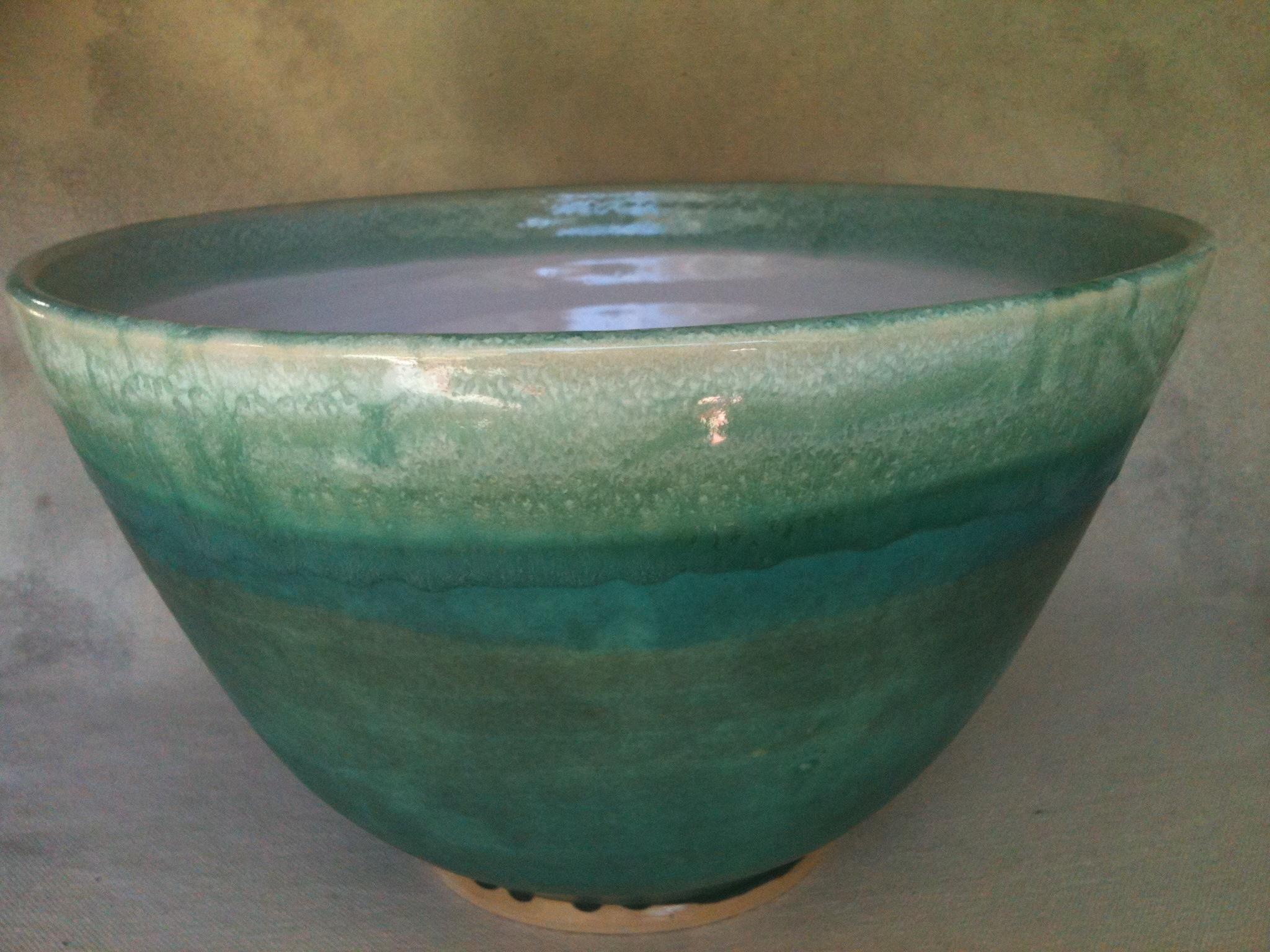 Large ocean blue bowl