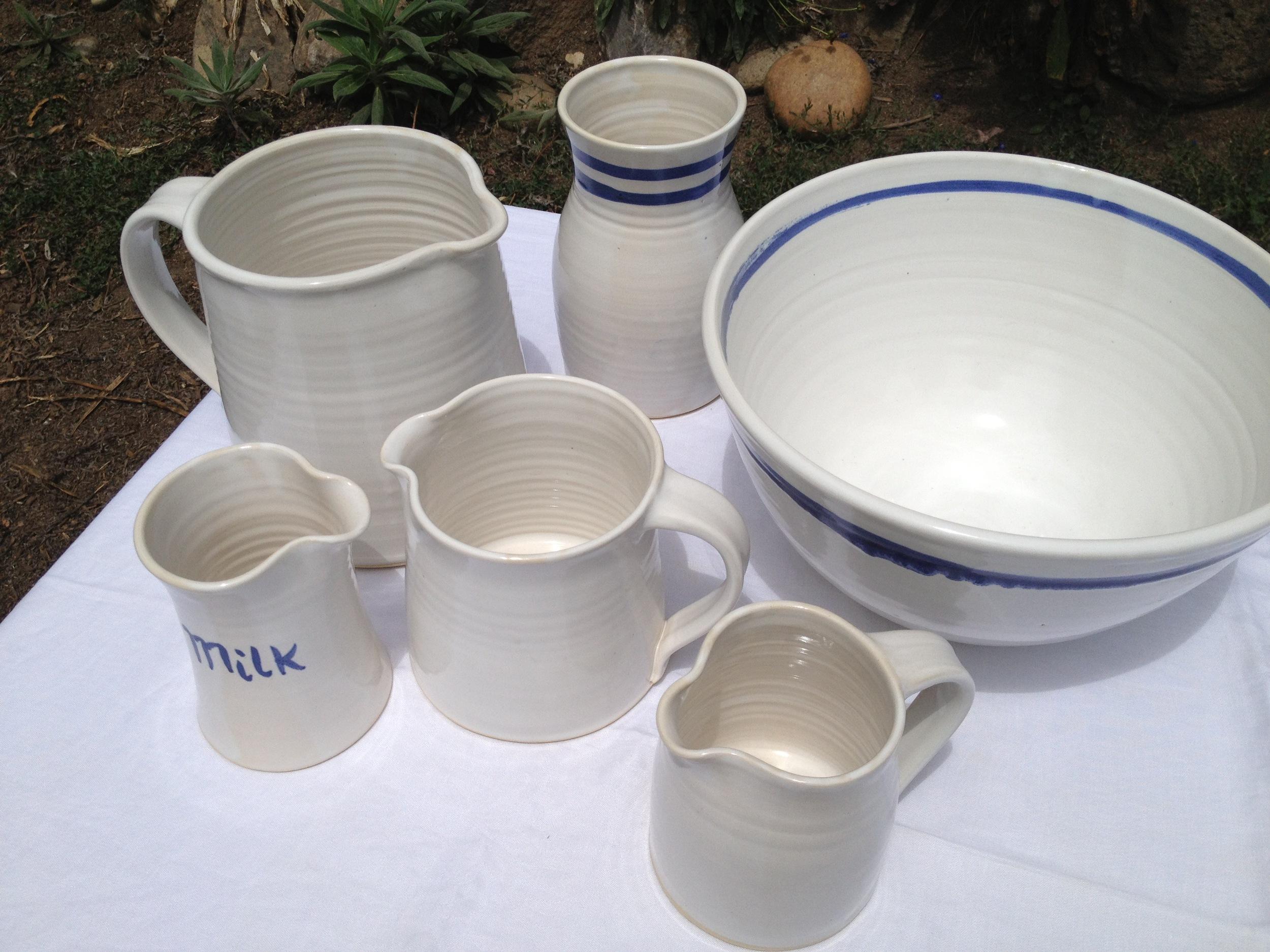 Hand-painted whiteware