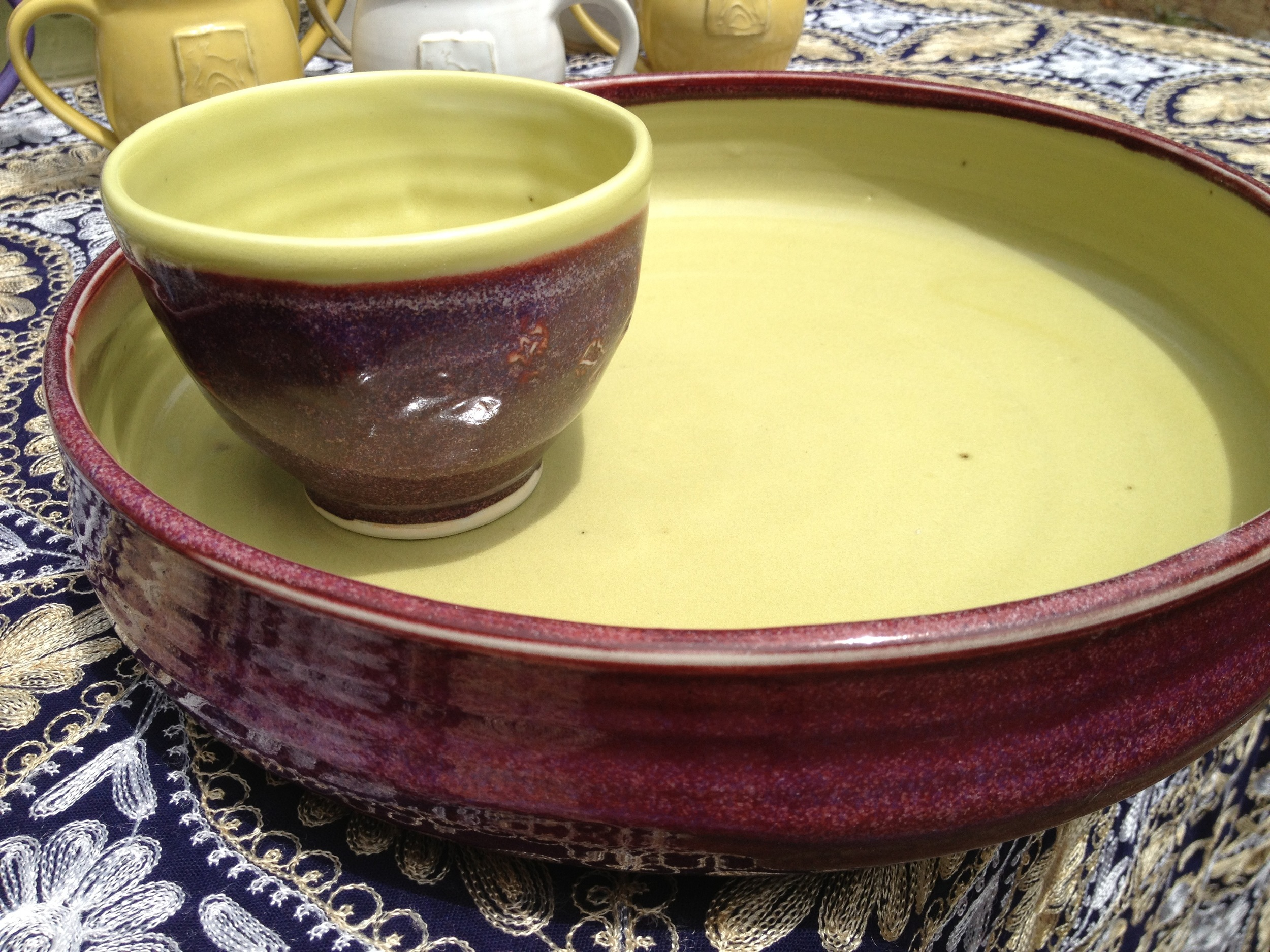 Large platter and matching bowl