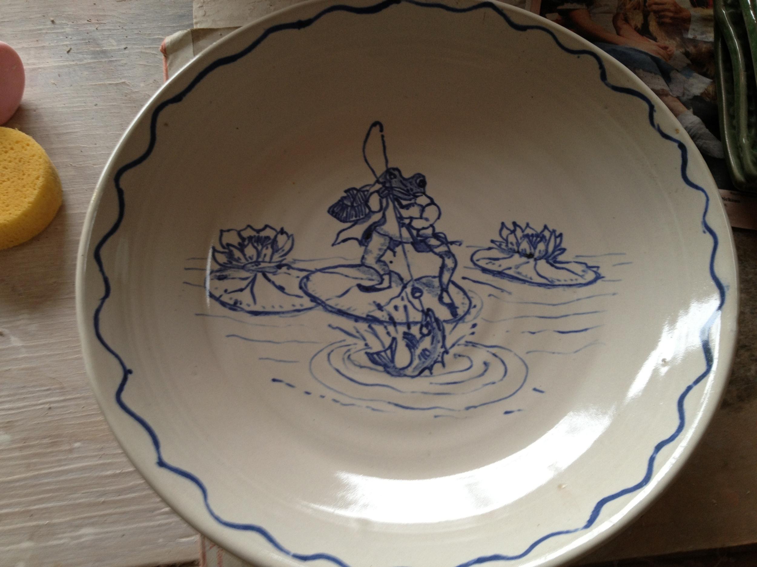Hand-painted platter