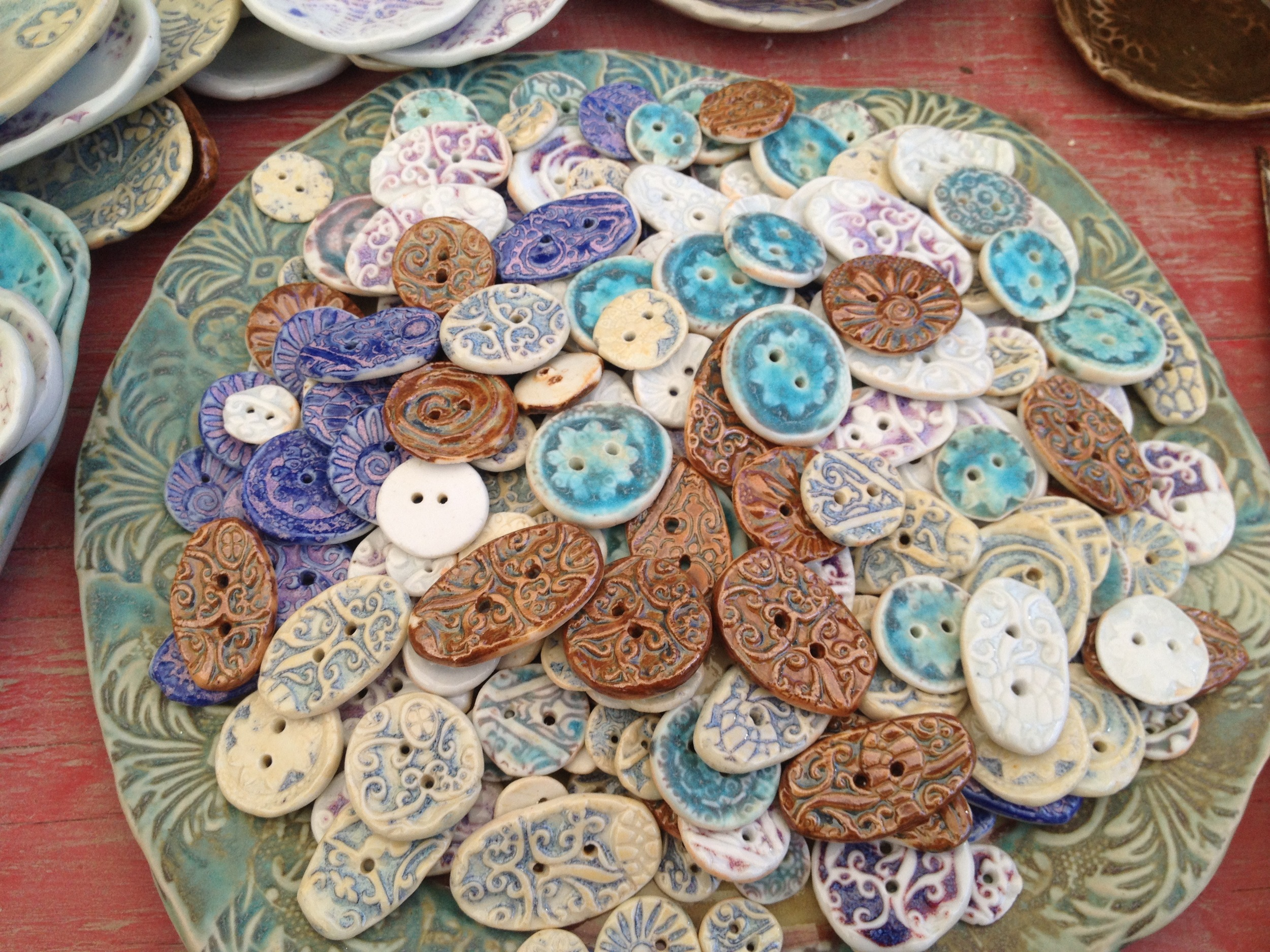 Lovely porcelain buttons!