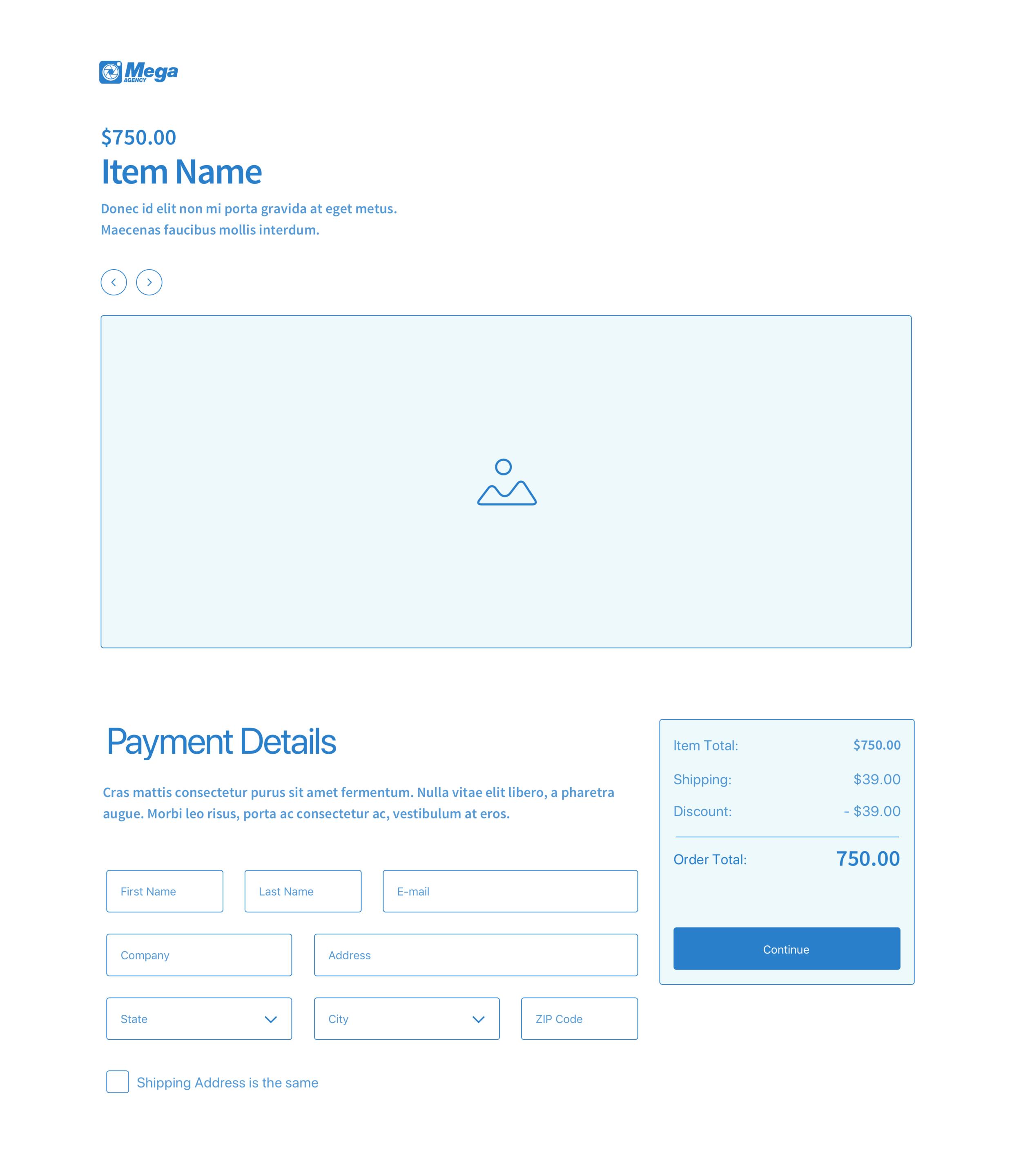 Payment Cart