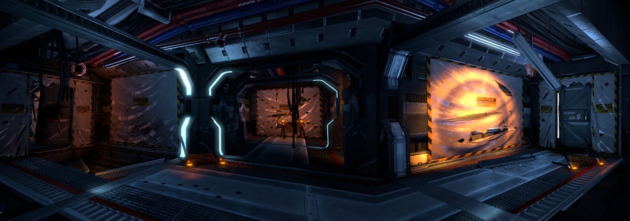 This junction was one of the first areas we introduced these meshes in to prove out the new Sulaco interiors