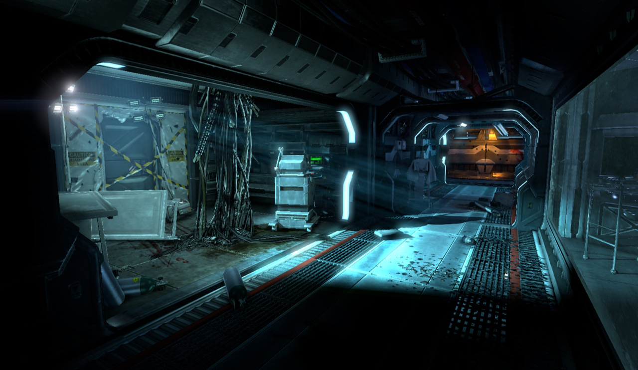 Lighting and propping and propping this area tailored to accentuate the medical bay and ensuing fight
