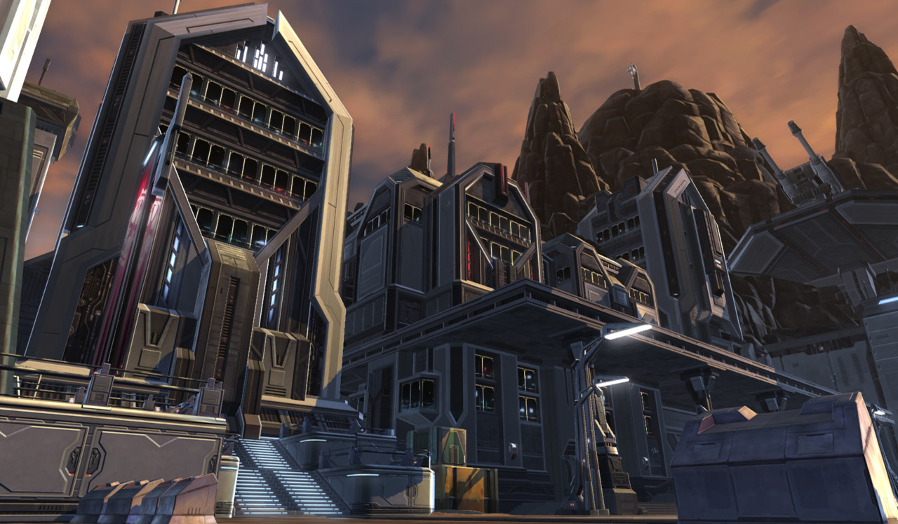 A few of the Imperial Buildings I made under the guidance of Chris Hahn at BioWare Austin