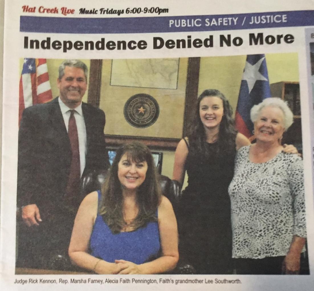 Independence Denied No More
