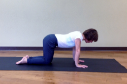 Starting position with toes flat