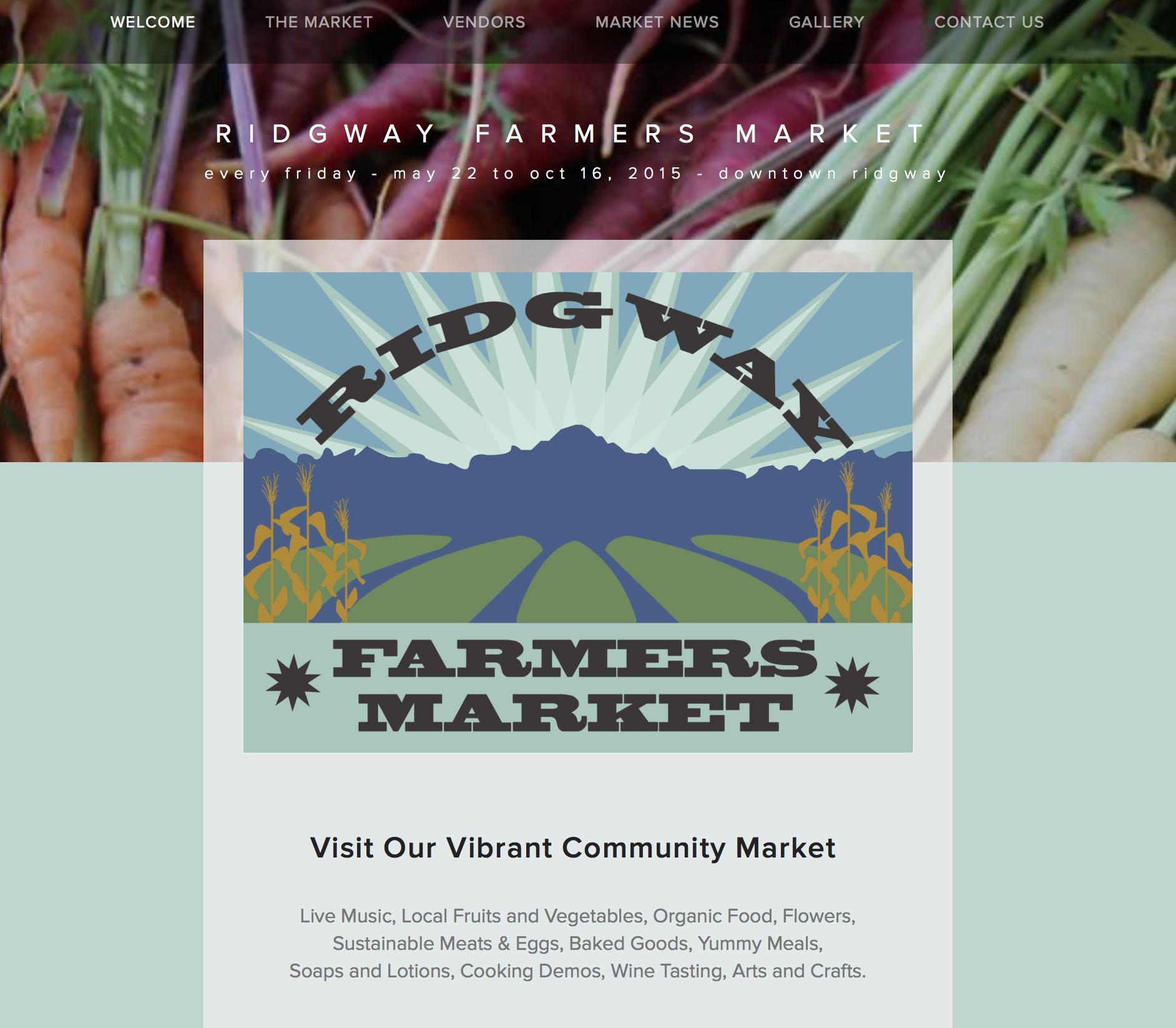 Ridgway Farmers Market Website