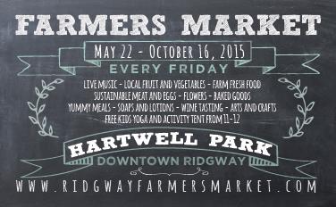 Ridgway Farmers Market Postcard Front