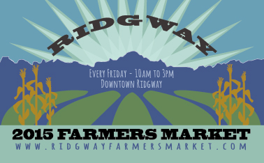 Ridgway Farmers Market Postcard Back