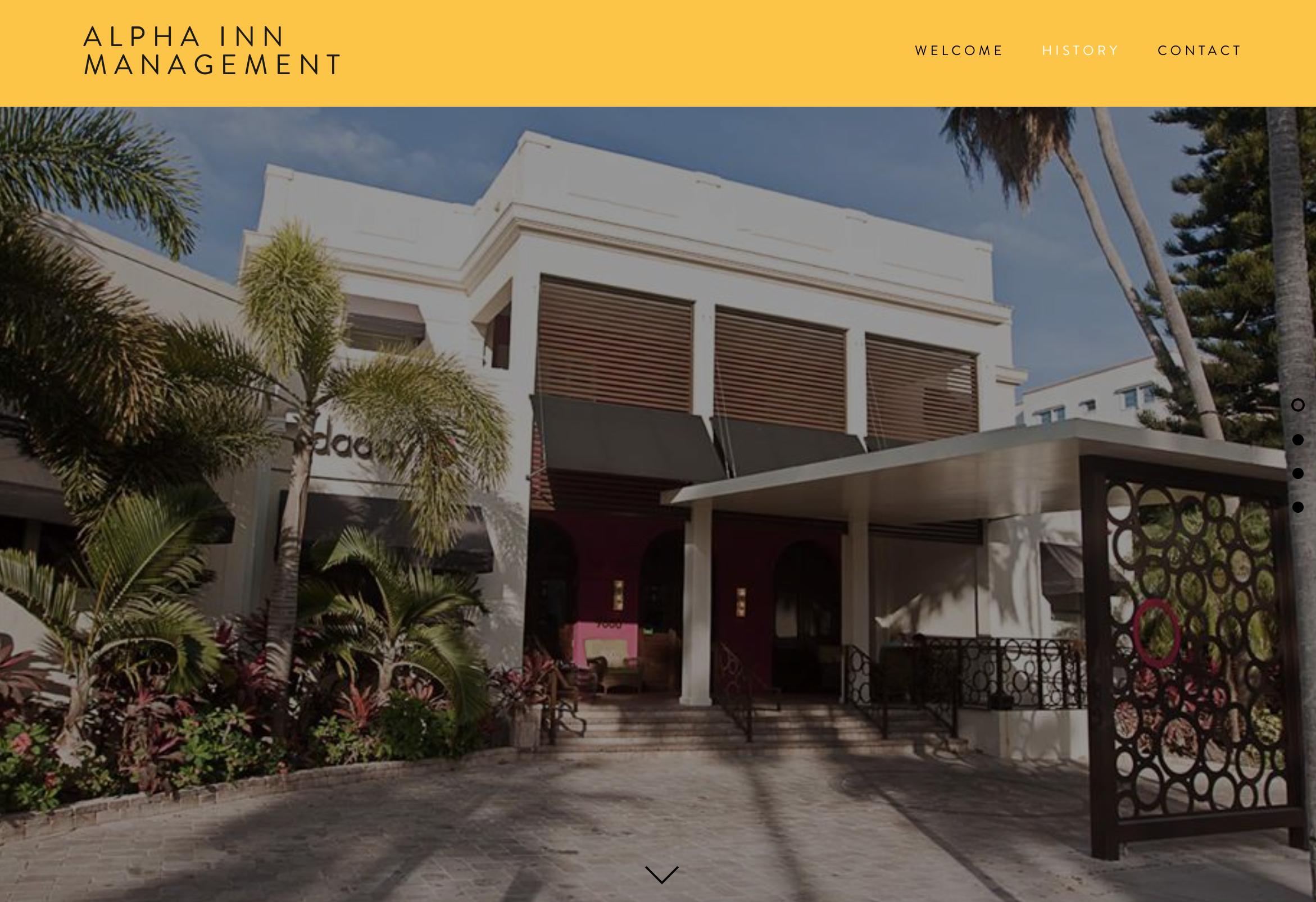 Alpha Inn Management Website