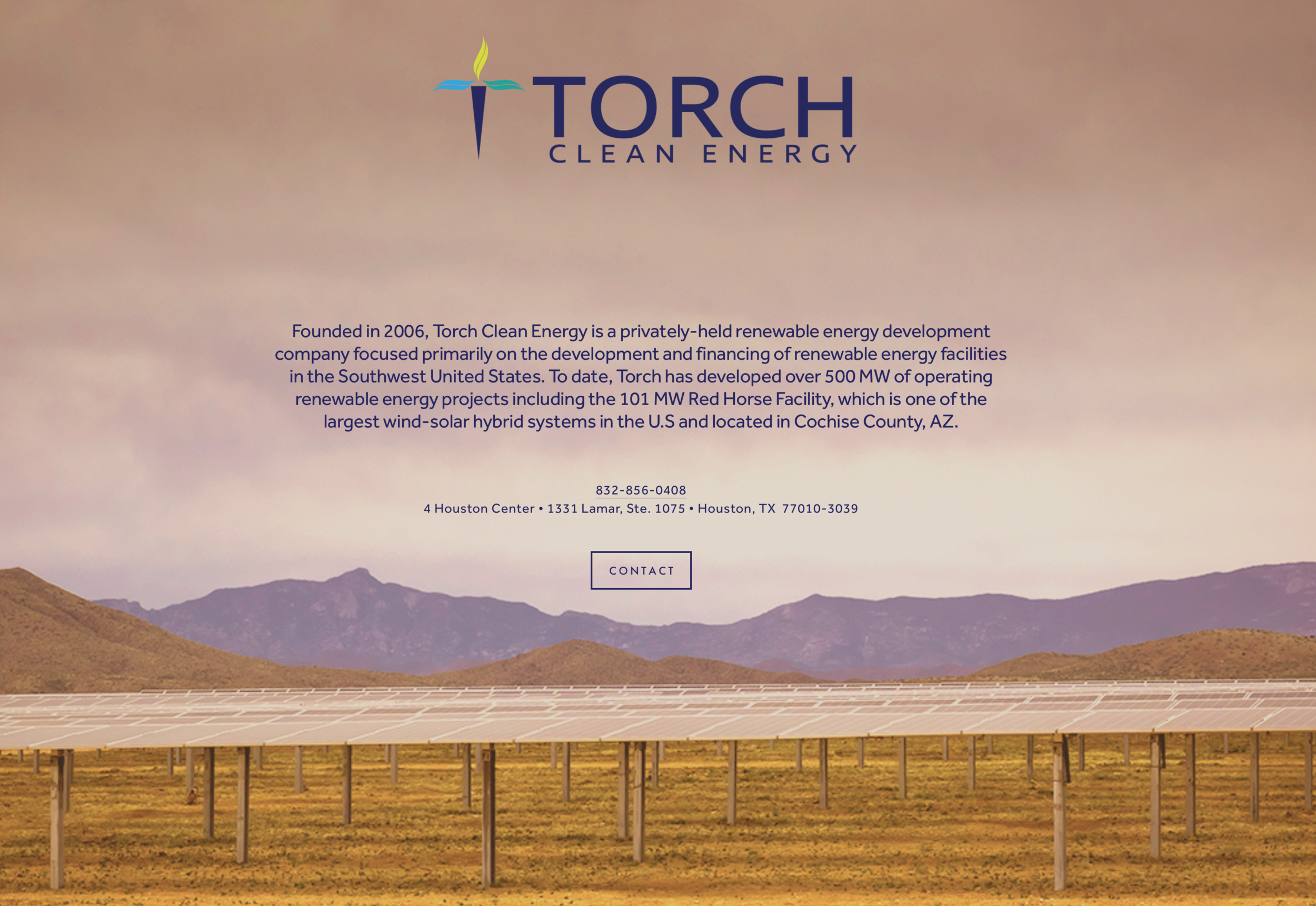 Placeholder Web Page for Torch Clean Energy