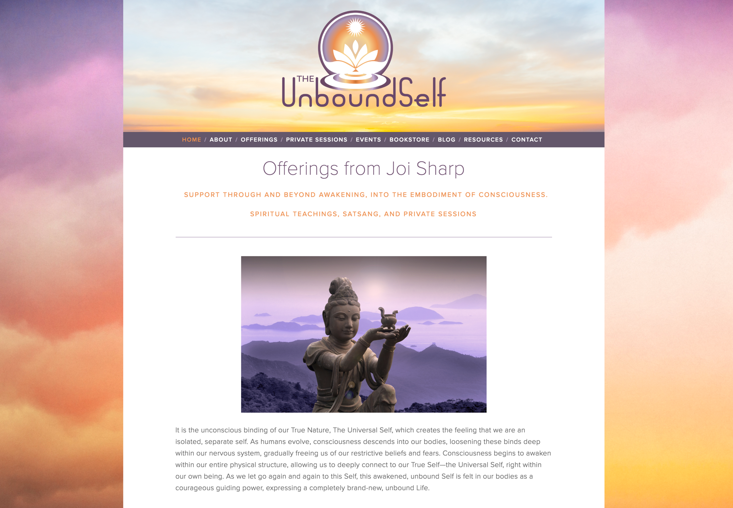 Website for The Unbound Self