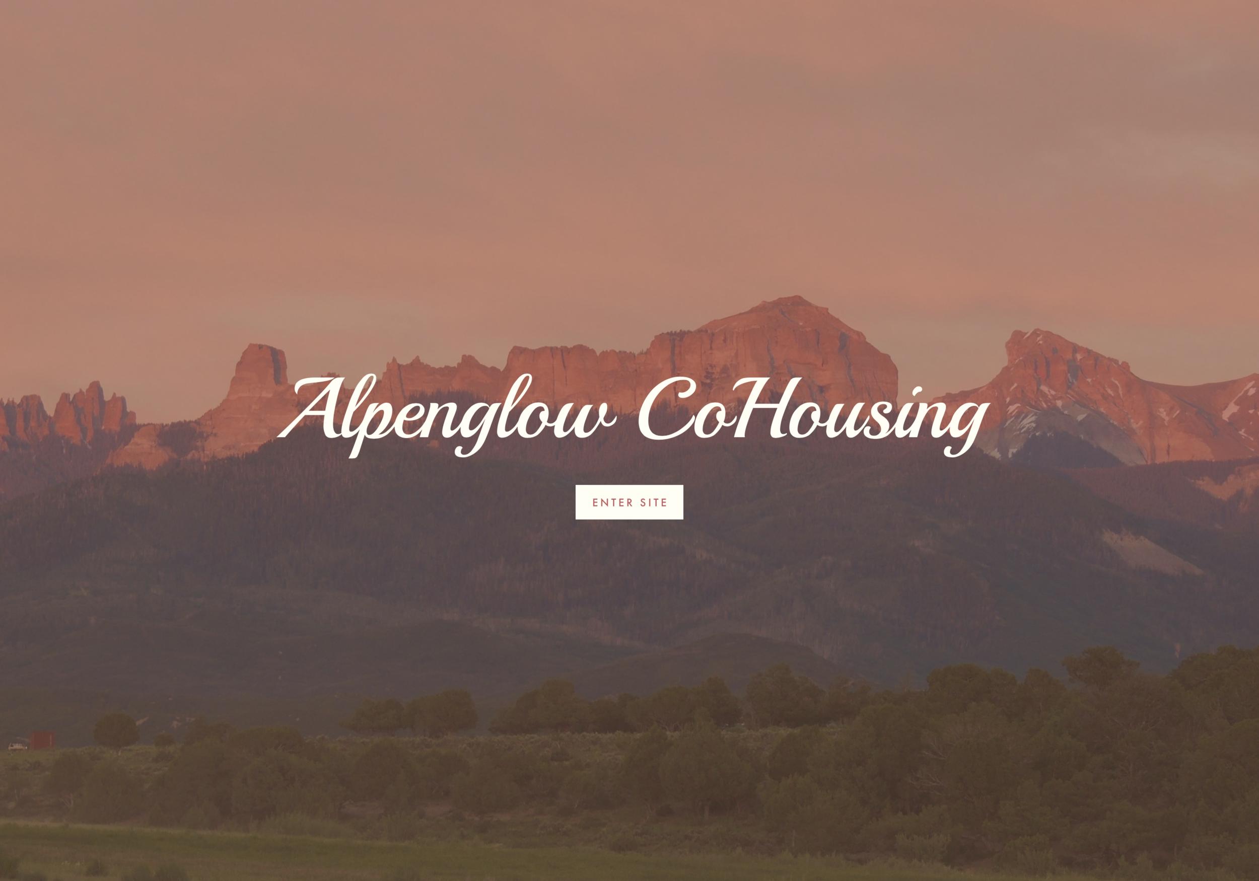 Alpenglow Co Housing Website