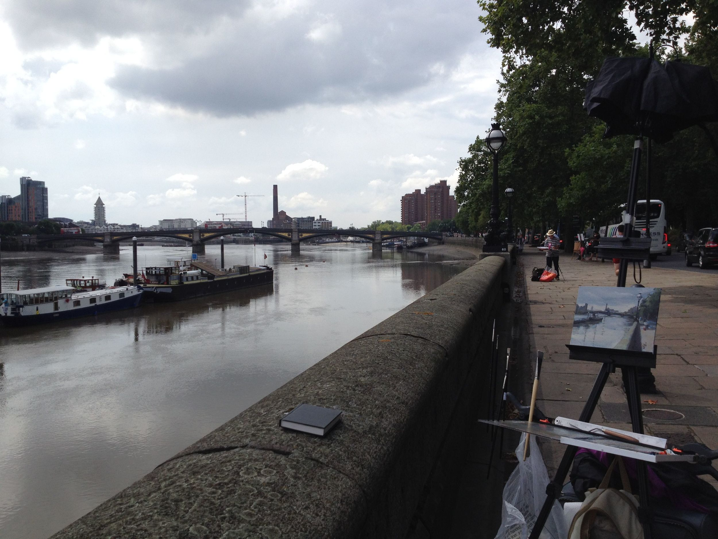 View from the embankment - including other painters!