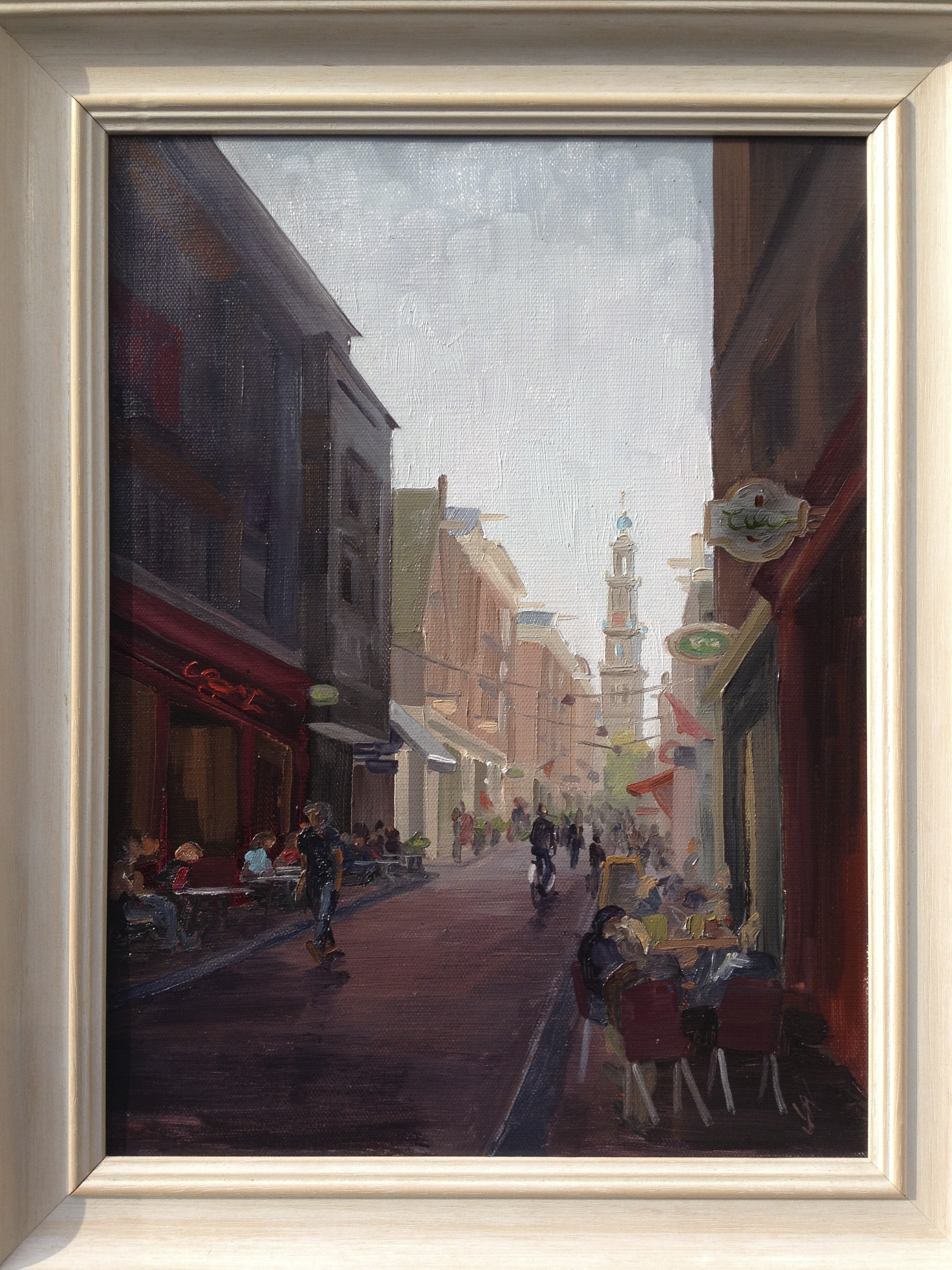"""Jordaan Amsterdam"" Oil on canvas 16X12"""