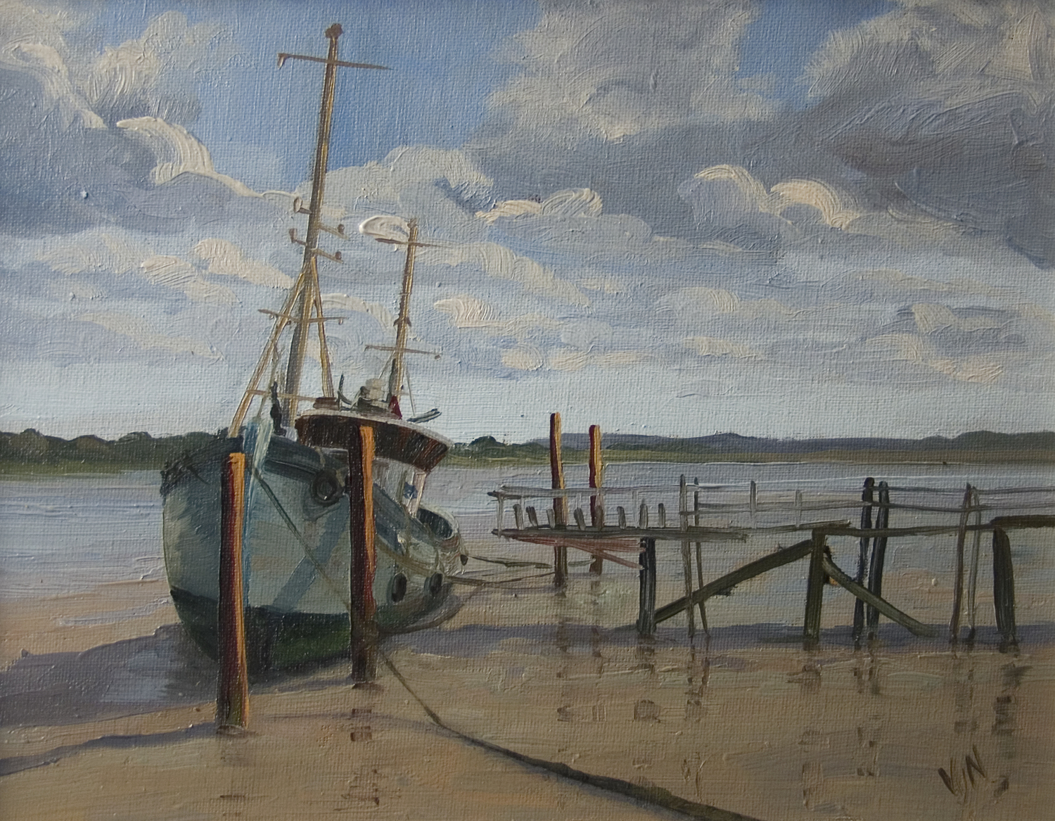 Heybridge Basin 24x30cm Oil on canvas board