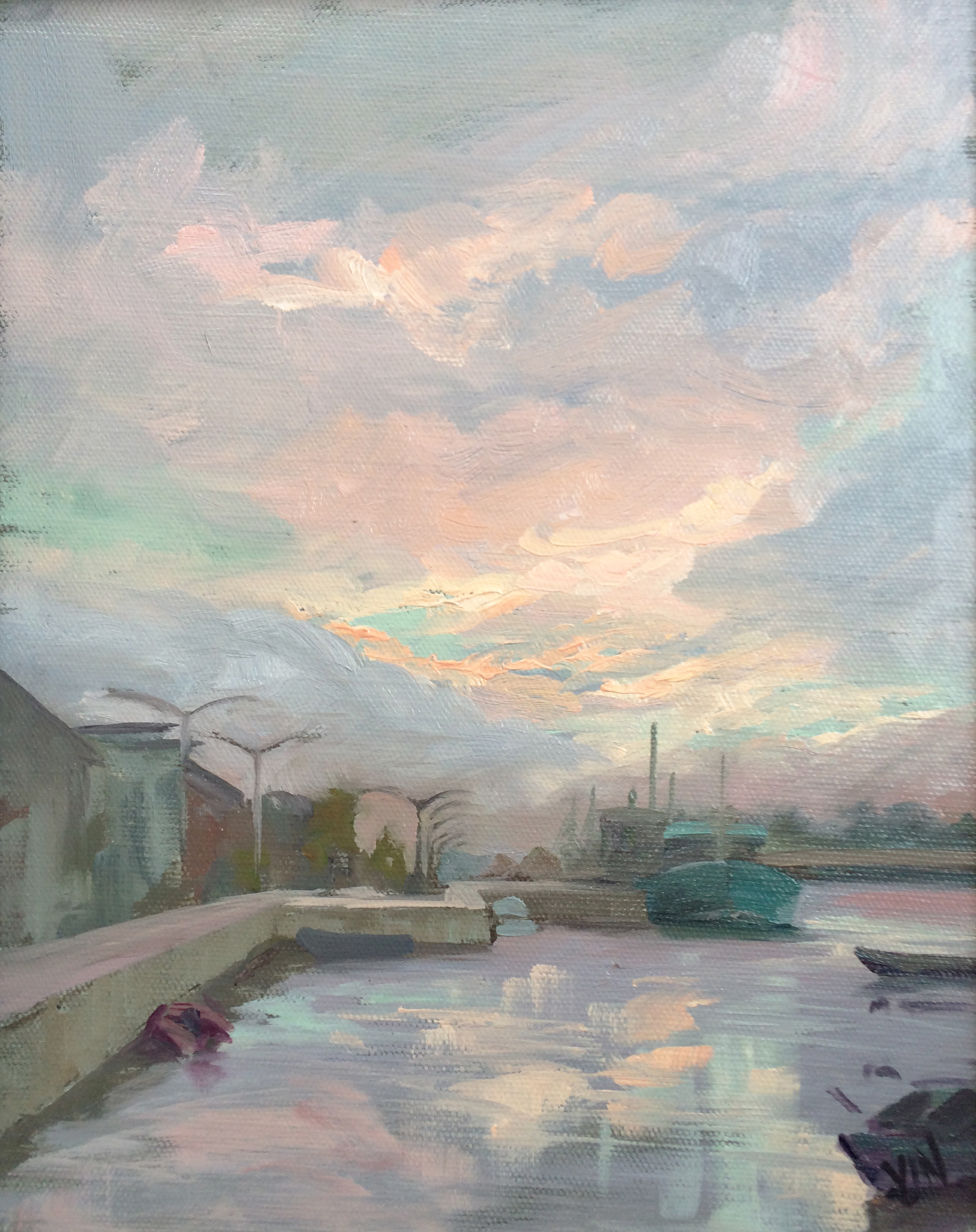 Wexford Quay, painted en route to the pub - again!