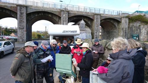 Giving a demo on colour at Balbriggan