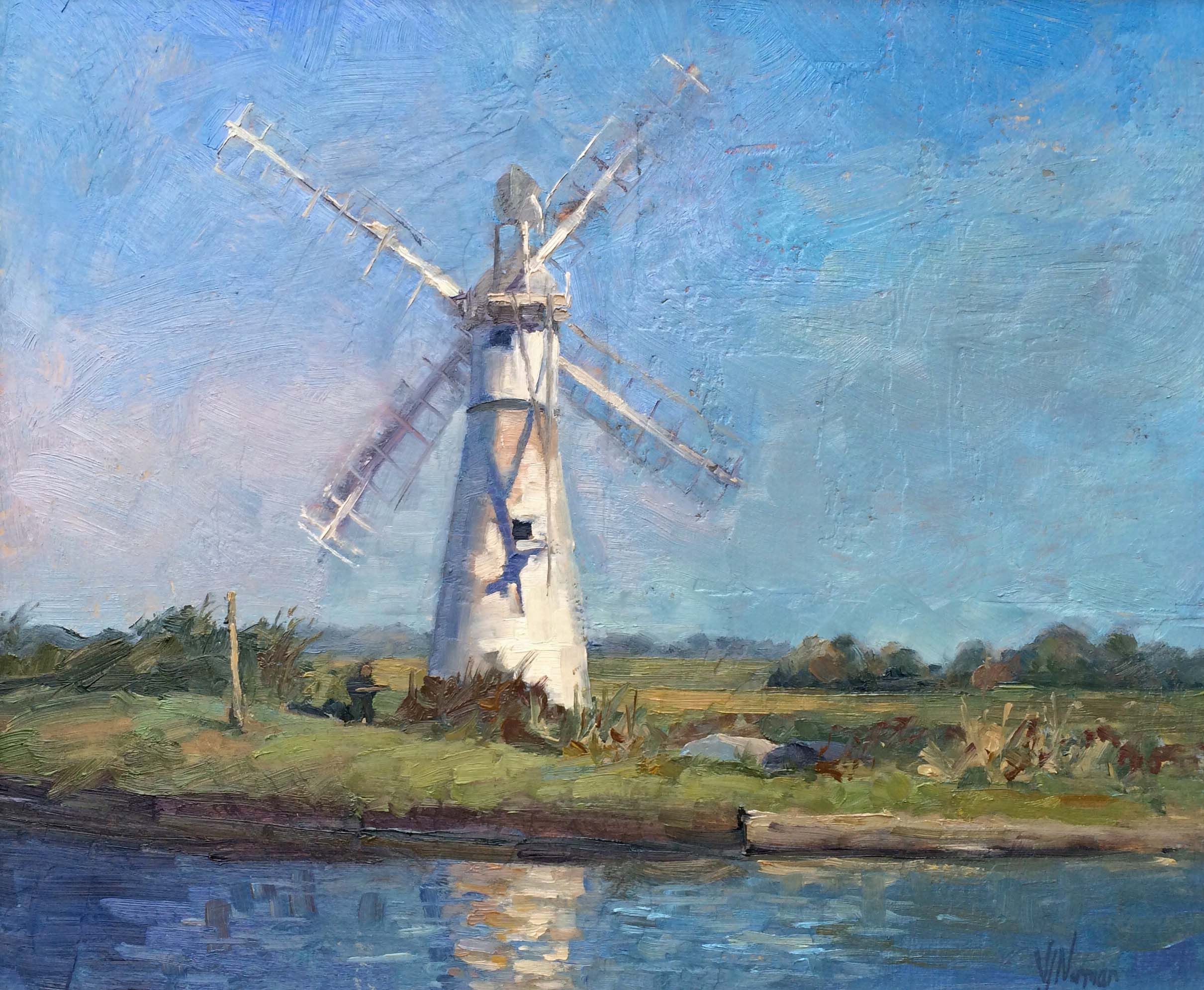 Thurne Mill won second prize at A Brush with the Broads