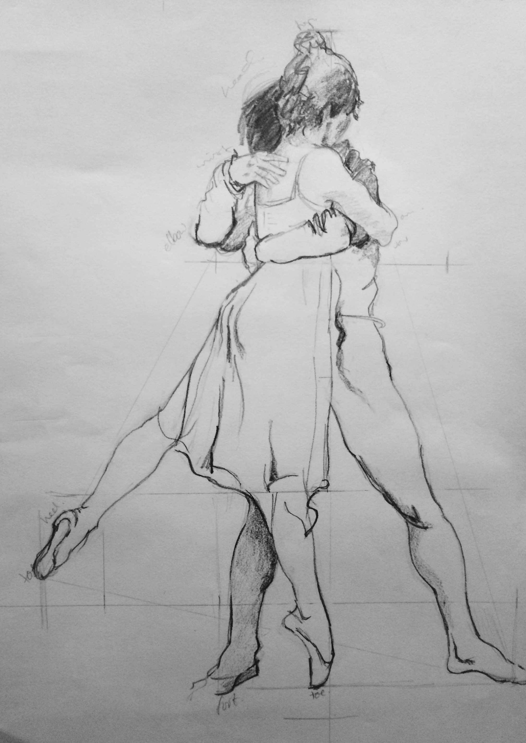 Dancers. Learn fast and accurate drawing methods in one day.