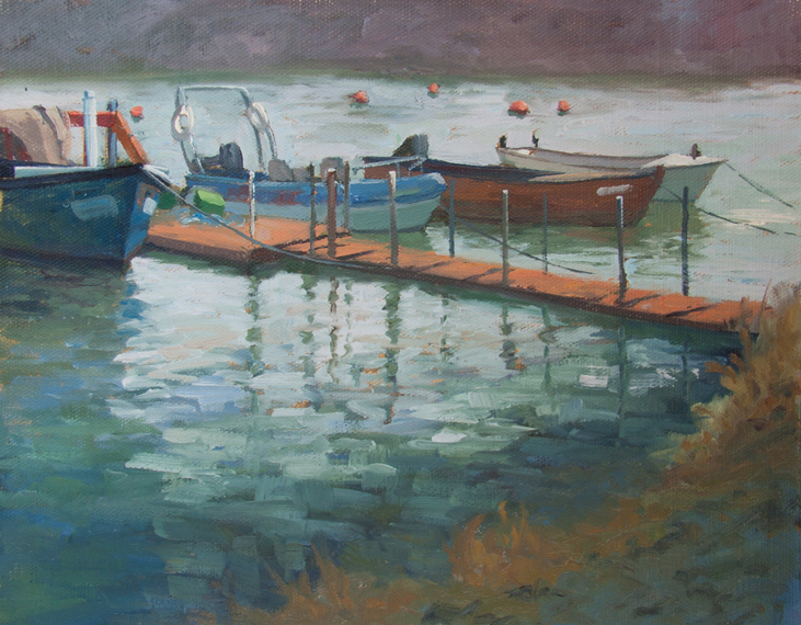 Oil painting demonstration Michael Harding Oil paints