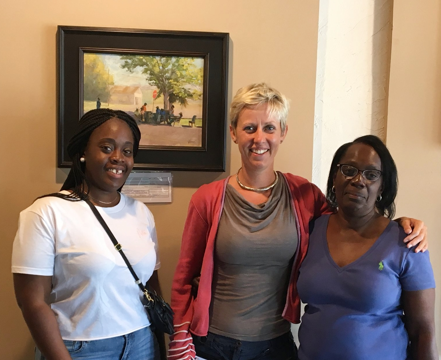 Whitney, me and Sedra with the painting