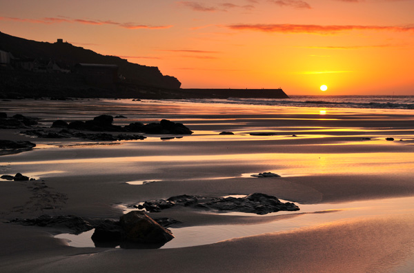 Stunning sunsets are visible from Sennen Cove