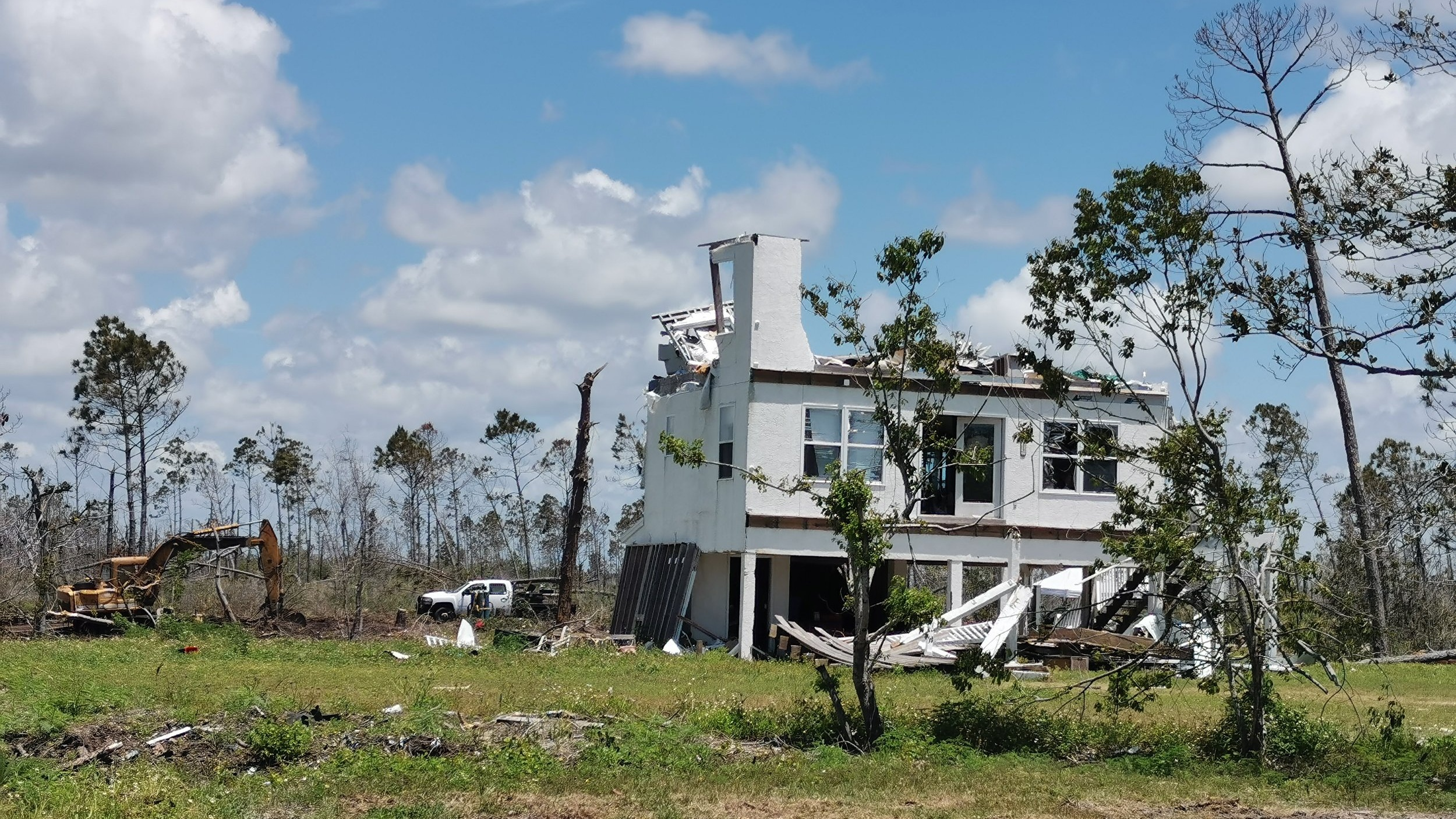 The hurricane damage in Mexico Beach is extensive