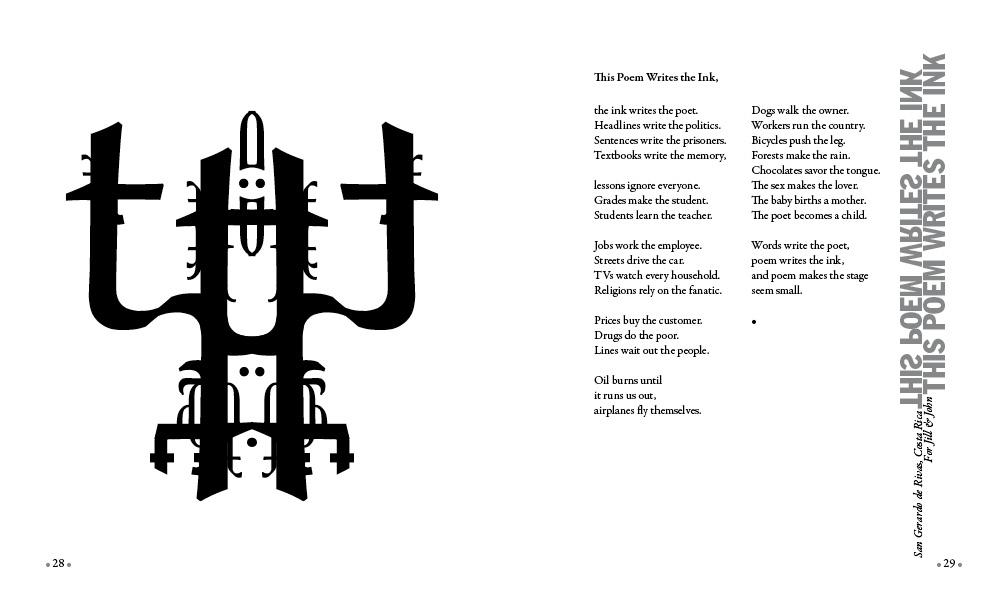 arroyo ink poem writes the ink
