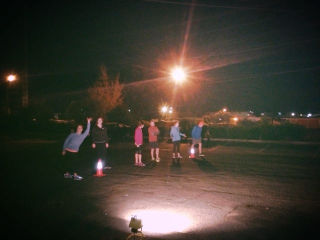 CFJ athletes showing up for a 5 am WOD in the dark.