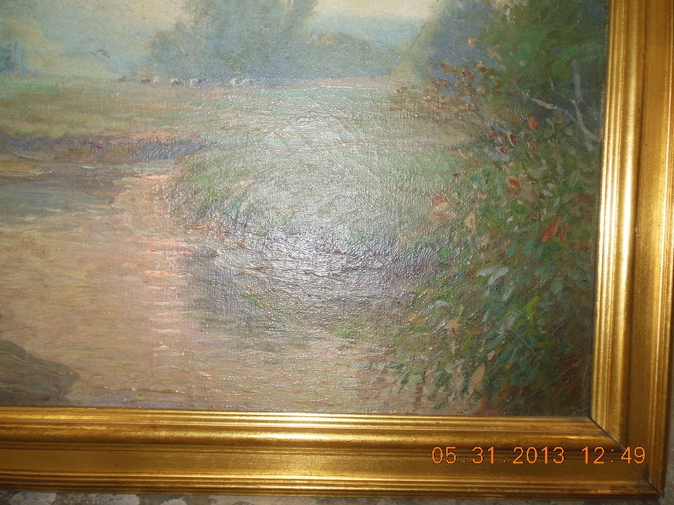 completed restoration to the Alexis Fournier oil painting today. I think it turned out very nicely..jpg