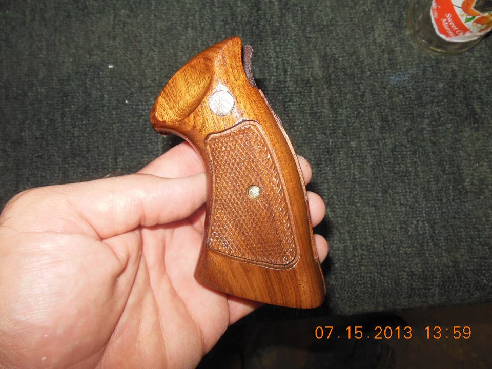 Walnut pistol grips
