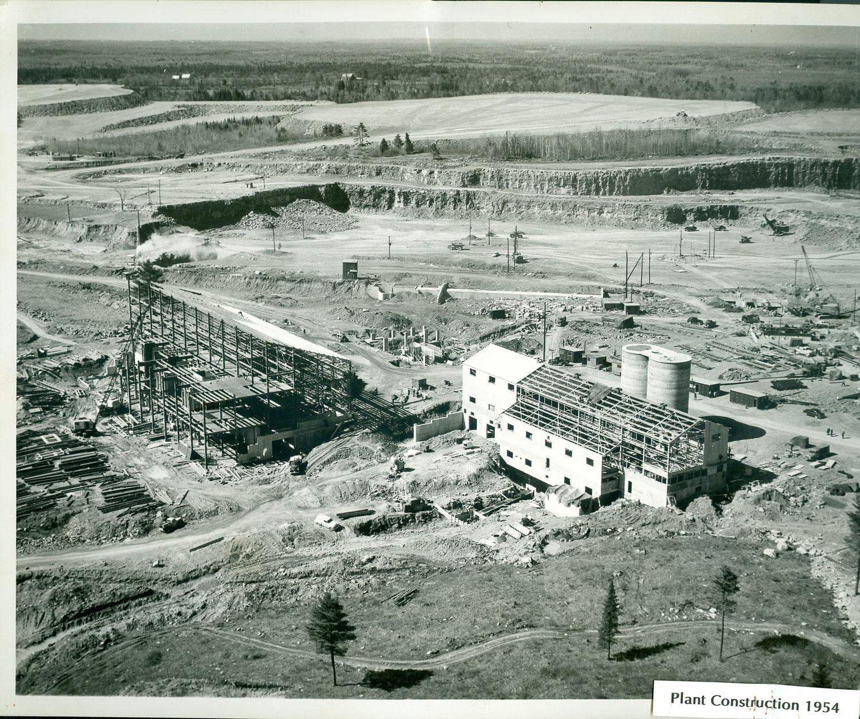 1954 Marmoraton Mine Plant Construction