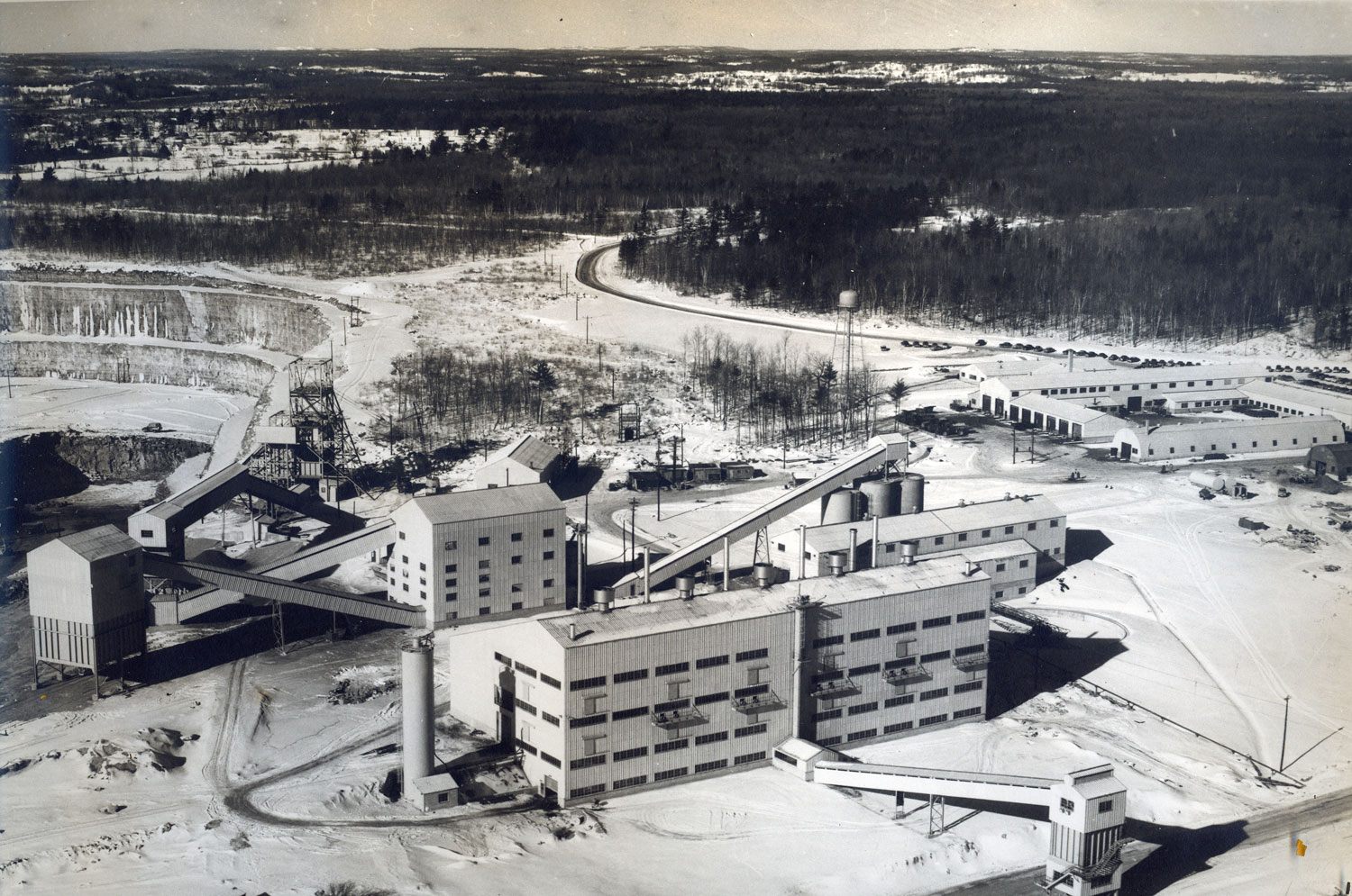 1955  Marmoraton Mine,  looking west from tailing area 1955