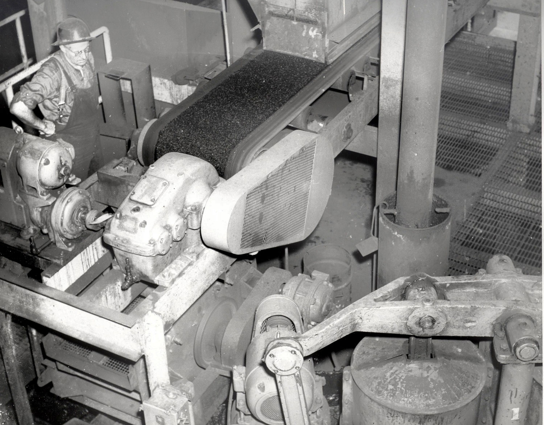 1956 Bill Jessup & coal feeders, Diaphragm pump Marmoraton Mine