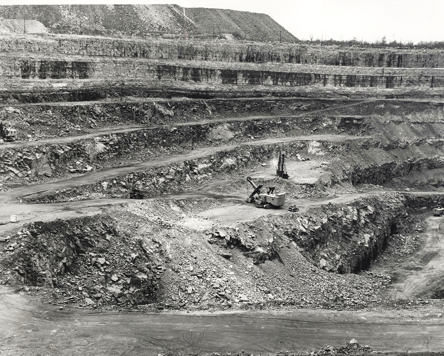 1968 West side of pit from the south Marmoraton Mine