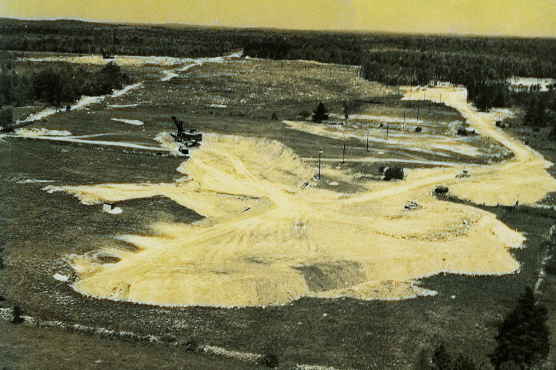 1952 Marmoraton Mine,  Limestone capping removal
