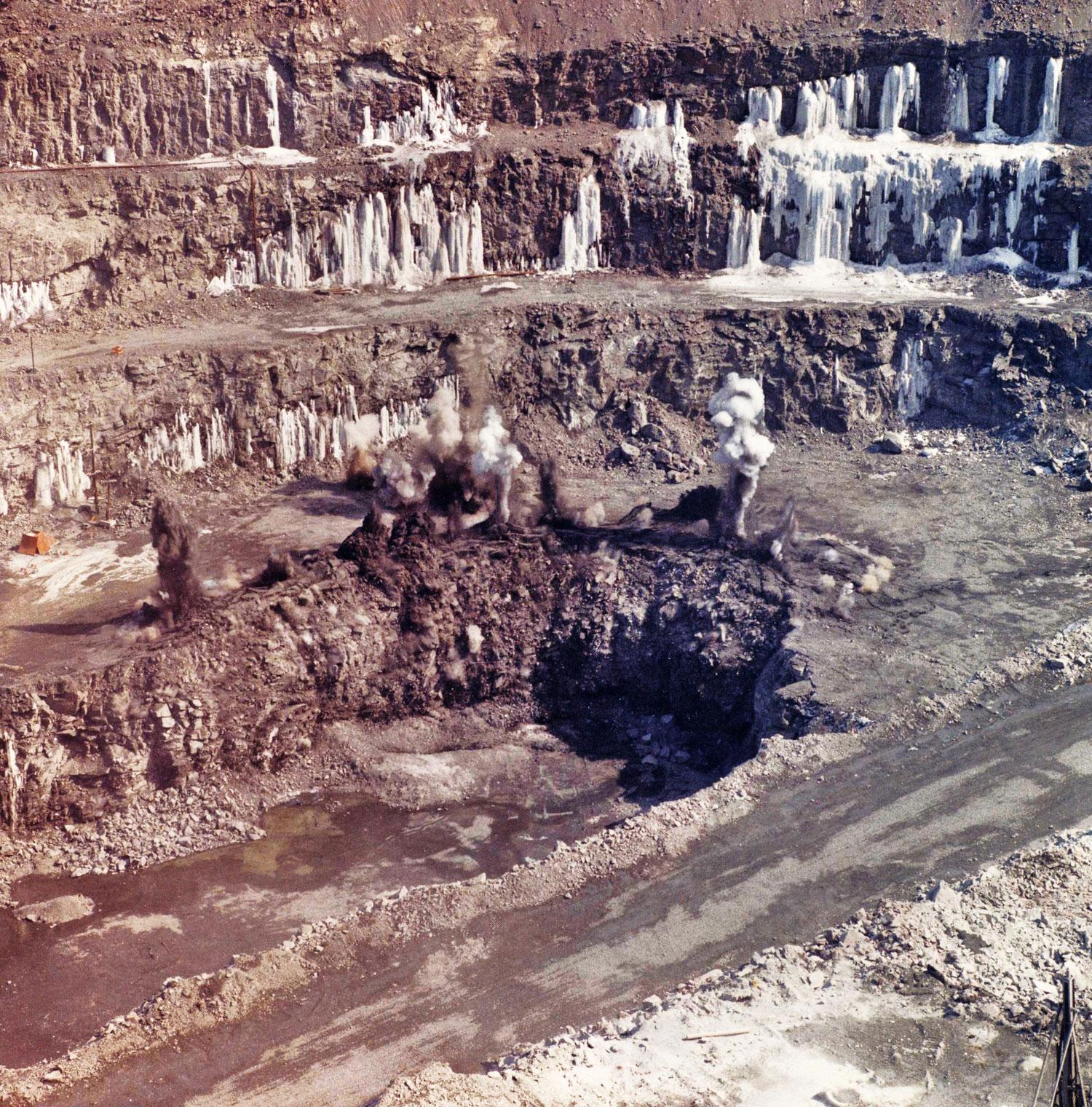 Marmoraton Mine blast & ice